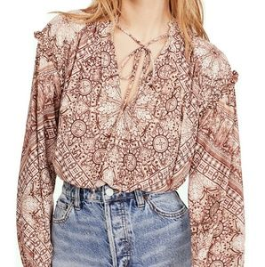 NWT Free People Little Runaway Blouse